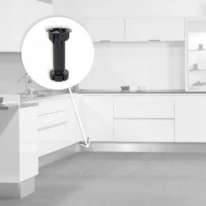 Pie nivelador Bone con base premontada para mueble Emuca 10 unidades color negro
