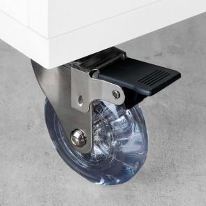 Ruedas transparente modelo Slip mcon placas de montaje Emuca