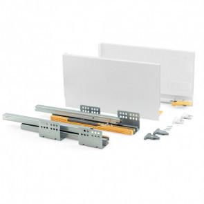 Kit de cajón para cocinar y baño modelo Concept 138 mm alto x 350 mm profundo Emuca