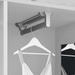 Colgador extraíble para armario Keeper Emuca L 350 mm Anodizado Mate