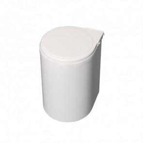 Contenedor de reciclaje para fijación a puerta con vaso de 13L Emuca - Blanco