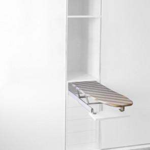 Tabla de planchar extraíble Iron en acero Emuca - Blanco