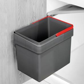Contenedor de reciclaje Recycle para fijación a puerta con vaso de 15L Emuca - Gris antracita