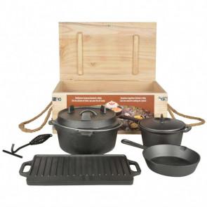 Esschert Design Juego de cocina de camping 7 piezas FF240