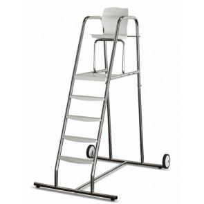 Silla alta para socorrista con pletinas desmontables peldaños plataforma y asiento AstralPool