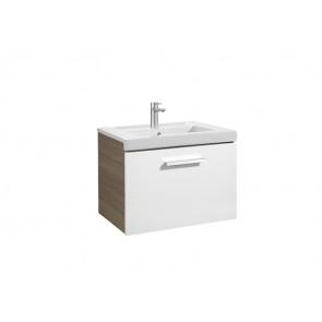 Mueble de baño Roca Prisma 1 Cajón Blanco y Fresno