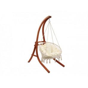 Hamaca colgante de madera con sillón canaries - Crudo