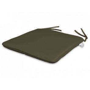 Par de cojines para asiento 35 x 35 cm color topo