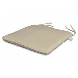 Par de cojines para asiento 35 x 35 cm color crudo