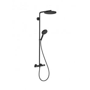 Columna de ducha Hansgrohe Raindance Select S 240 1jet con termostato negro mate