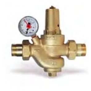 Válvula reductora de presión con manómetro 1/2 Watts