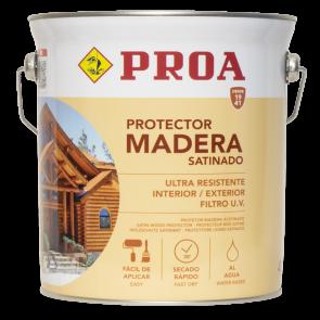 Lasur protector para madera al agua exterior 4l Caoba