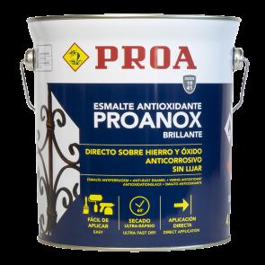Esmalte directo sobre óxido antioxidante Proanox 4l Aluminio RAL 9006