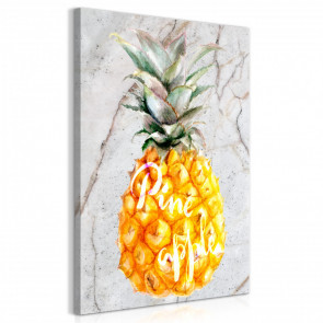 Cuadro - Pineapple and Marble (1 Part) Vertical