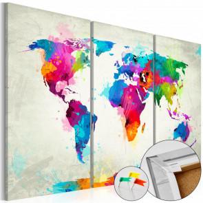 Tablero de corcho - Colourful Expression  120x80 CM