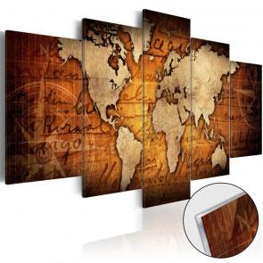 Cuadro acrílico Acrylic prints Bronze map 100x50
