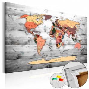 Tablero de corcho - Direction World  120x80 CM