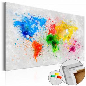 Tablero de corcho - Expresionismo mundial  120x80 CM