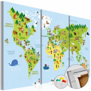 Tablero de corcho - Children's World  120x80 CM