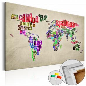 Tablero corcho Global Tournée EN 90x60