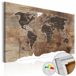 Tablero de corcho - Wooden Mosaic  60x40 CM