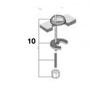 Kit fijación lavabo-bidé MD-top M8x85 moai