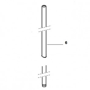 Kit tubo frontal 1150 columna baño-ducha