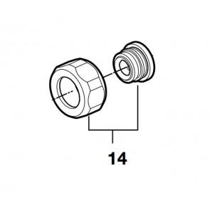 Kit tuerca hexagonal cr+asiento (2 unis)