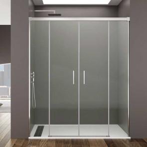 Mampara de ducha Basic Spazio frontal de 2 fijos + 2 correderas GME