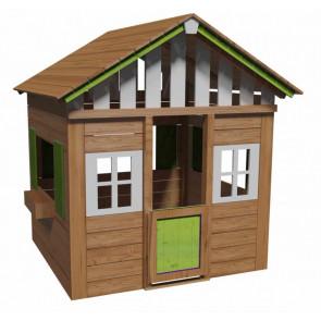Casita infantil de madera color verde modelo Lollipop XL Masgames