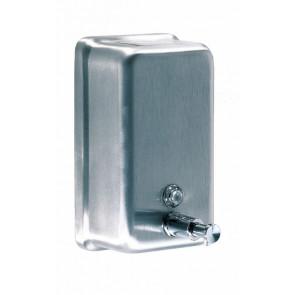 Dosificador jabón vertical inox satinado 1,1L Mediclinics
