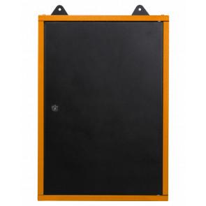 Armario Metálico colgante de pared, con cerradura y llave. Naranja/negro