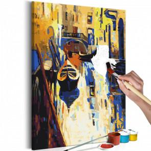 Cuadro para colorear - Venecia (las góndolas) 40x60 CM