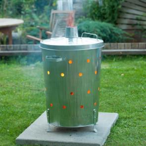 Nature Incinerador de jardín de acero galvanizado 46x72 cm
