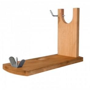 Jamonero / soporte jamonero de banqueta realizado en madera