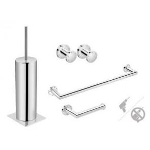 Pack accesorios de baño Pom D'or Kubic fijación dual