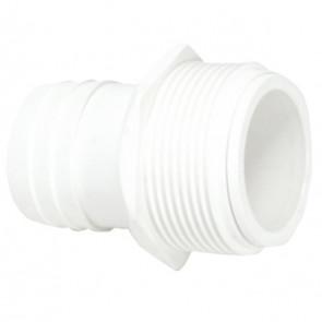 Terminal  en color blanco con rosca 11/2 para manguera piscina 38ø AstralPool