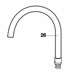 Kit caño giratorio fregadero targa (recambio