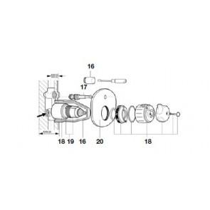 Kit mando mezclador PRADA Roca (Recambio