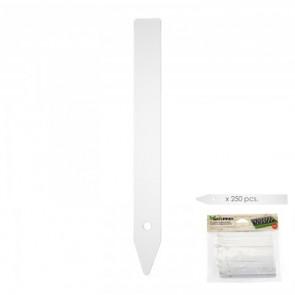 Etiqueta marcadora plástico para plantas bolsa 250 unidades