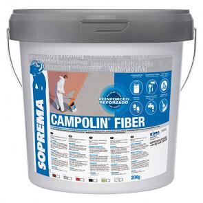 Impermeabilizante Soprema Campolin Fiber color blanco 5kg