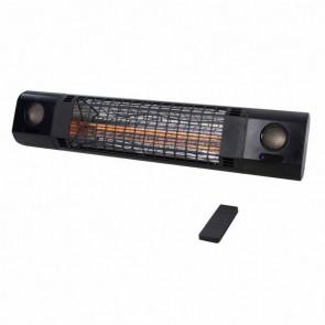 Sunred Calentador de pared Sun and Sound 2000 W rosa oro negro