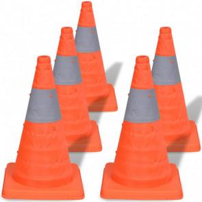 Conos de tráfico desplegables 42cm (5 unidades)