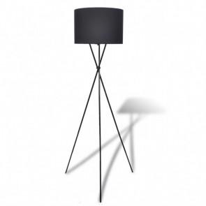 Lámpara de pie, alta de color negro