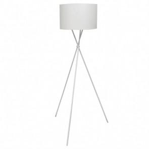 Lámpara de pie, alta de color blanco