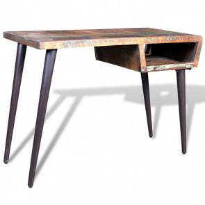 Mesa de madera reciclada con patas de hierro
