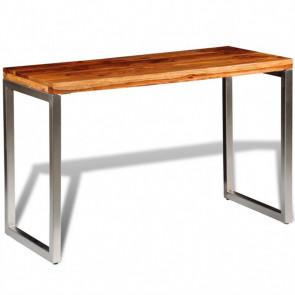Mesa de salón o escritorio madera sheesham con patas de acero