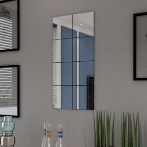 Set Espejos sin Marco 8 Piezas Vidrio 20.5 cm