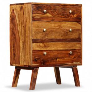 Armario auxiliar de madera maciza de sheesham 60x35x76 cm