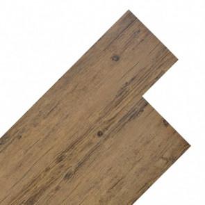 Lamas para suelo de PVC 5,26 m² marrón nogal